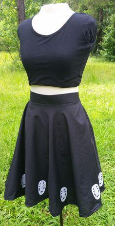 Studio Ghibli No Face Inspired Circle Skirt