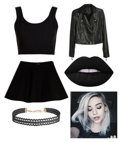 """""""Emo Look"""" by katrina-mclain ❤ liked on Polyvore featuring Calvin Klein Collection, Paige Denim, Max&Co., Humble Chic and Lime Crime"""