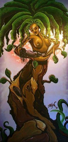 Trendy Tree Of Life Artwork Drawings Pictures Ideas Black Love Art, Black Girl Art, Tree Of Life Artwork, African Tree, African Tattoo, Sun Painting, Futuristic Art, Afro Art, Hippie Art