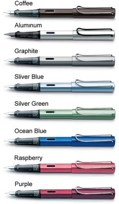 Lamy safari fountain pens - so many colors!