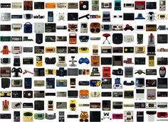 A selection of 175 video game systems, computers and accessories I shot in a Lightbox for the magazine Amusement, finally published in the mook Pix'N Love #7 at page number 31.    All that stuff belongs to the members of the French association MO5 dot    Video Game Systems  Information.