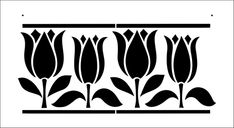 Border No 3 stencil from The Stencil Library ARTS AND CRAFTS range. Buy stencils online. Stencil code DE3.