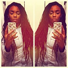 Loc Extensions (faux locs). WAY better than the chunky ones!