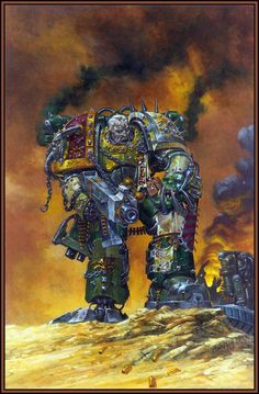Chaos Space Marine by Adrian Smith. Chaos 40k, Warhammer 40k Art, Warhammer Games, Warhammer Fantasy, Adrian Smith, Heavy Metal Art, Gundam Wallpapers, Fantasy Illustration, Geek Art