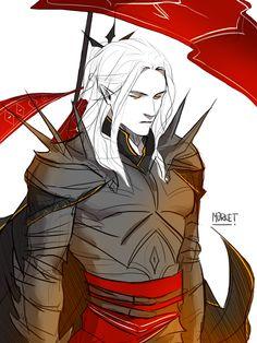 Concept-art of Mairon's armor