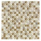 Nevada Sand Glass 12 in. x 12 in. Glass Wall & Floor Tile