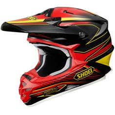 Shoei VFXW Motocross Helmet Sear TC-1 Black Red Yellow