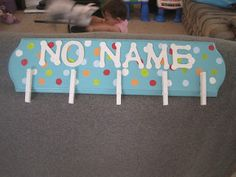 Because 8th graders never write their names on their papers...  dots on turquoise classroom ideas - Google Search