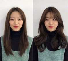 • 3) Hair만으로도 다른사람이~? 헤어스타일 전/후 : 네이버 블로그 Korean Wavy Hair, Korean Hairstyle Long, Korean Haircut, Hair Korean Style, Korean Hairstyles Women, Japanese Hairstyles, Asian Hairstyles, Front Hair Styles, Medium Hair Styles