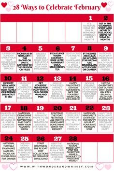 Terrific Free 2020 february calendar Ideas Around the globe there are 38 holiday seasons in February. Within the United Suggests most people wa February Holidays, February Days To Celebrate, February Days List, Silly Holidays, February Month, February Calendar, My Funny Valentine, Valentines Day, Monthly Celebration