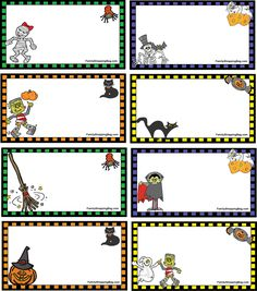 Cute Halloween tags for student treats!