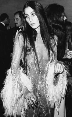 Cher in sequins & feathers #style #fashion #70s