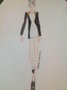 Vestido básico #moda #croqui
