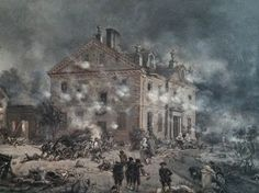"""The Battle of Germantown at Chew House in 1777"""