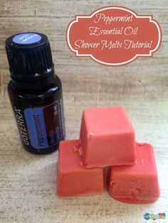 Check out this super easy way to make Peppermint essential oil shower melts and turn your next shower time into sauna time!