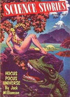Science Stories, October 1953 - Artist: Hannes Bok