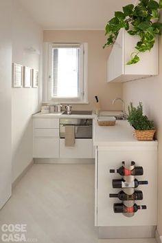 4) Cucina schermata Larga 166 cm, la zona cottura è uno spazio ricavato ex novo…