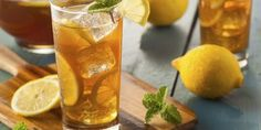 8 Things Only Southerners Know About Sweet Tea : Food Network Bourbon Drinks, Whiskey Cocktails, Fruity Drinks, Refreshing Drinks, Tea Drinks, Beverage, Iced Tea Recipes, Cocktail Recipes, Whiskey Recipes