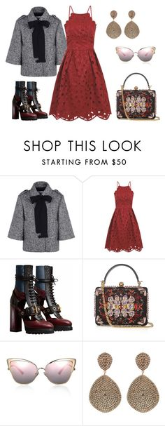 """""""Untitled #349"""" by stasi1207 ❤ liked on Polyvore featuring RED Valentino, Chi Chi, Burberry, Alexander McQueen and Latelita"""