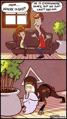 God... is a ninja!
