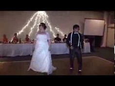 Surprise first wedding dance!!! Funny video;  they really must have rehearsed this.
