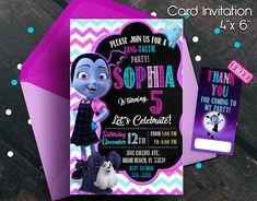 Vampirina invitation, Vampirina birthday party, Vampirina birthday invitation, free thank you cards, Vampirina, Vampirina cards, Party