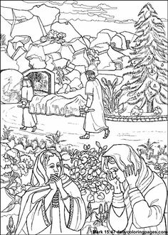 Mark 15:47 - Jesus burial coloring sheet {using inside of lapbook, minimized}