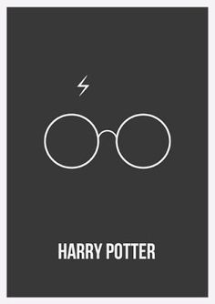 8 Minimalist Harry Potter Posters You'll Totally Geek Out Over - illustrations Harry Potter Poster, Harry Potter Love, Harry Potter World, Harry Potter Glasses, Minimal Movie Posters, Minimal Poster, Simple Poster, Cinema Posters, Lunette Harry Potter