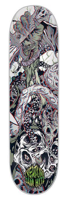 Creature Ritual 3D Skateboard Deck 8.5 Sam Hitz