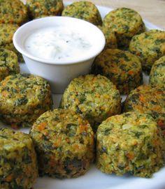 Au gré du marché: Bouchées au quinoa, aux carottes, au persil et au parmesan