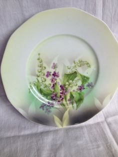 Dresden Vintage China Side Plate green Pattern by PurityBelle, €6.00