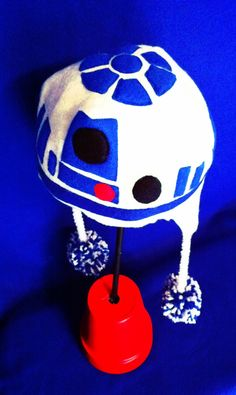 r2d2  star wars earflap beanie hat by beanieswithcharacter on etsy, $25.00