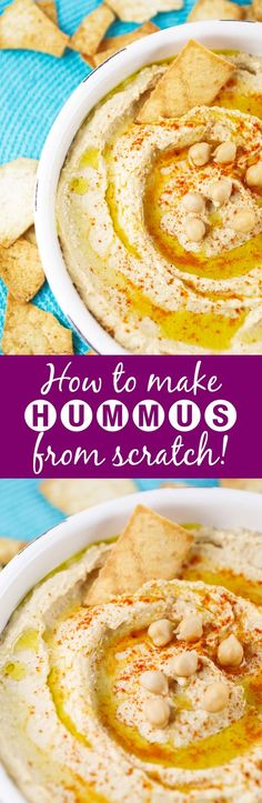 Classic Hummus | This hummus is EASY. I'm talking ridiculously easy. And way better (and healthier) than the store-bought version. Great as an appetizer or snack.