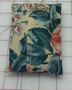 "Yellow Flower Fabric ""Handmade""  Pocket Tissue Holder, Mother's day gift #Fabric"