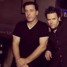 Till Lindemann and Richard Z Kruspe