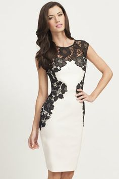 White dress black lace – Dress and bottoms