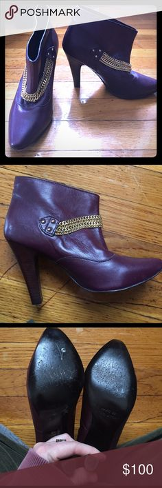 Marc by Marc Jacobs maroon heeled booties Size 36 Size 36 Marc Jacob heels. Good condition, bottom of shoe shows wear, but leather and heels are in perfect condition Marc by Marc Jacobs Shoes Ankle Boots & Booties