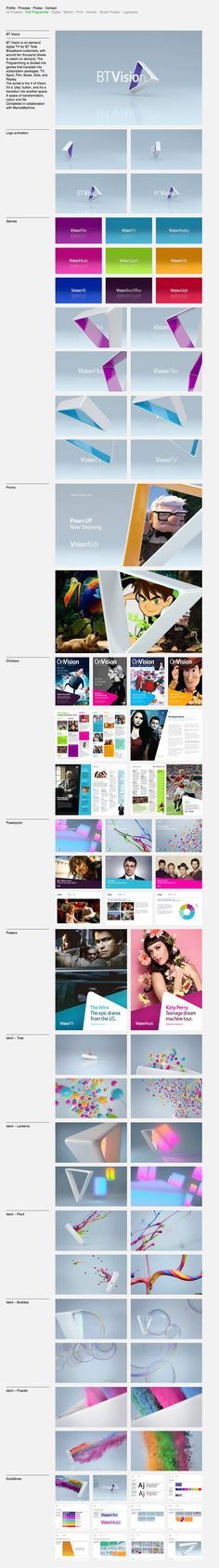 Corporate Presentation / Color / Framing / Photography Integration /// BT Vision branding by Proud Creative