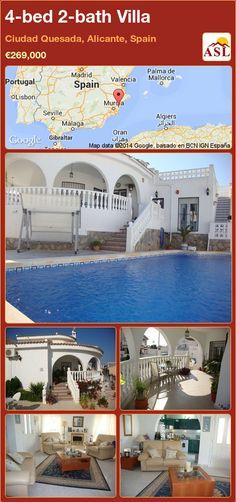 4-bed 2-bath Villa in Ciudad Quesada, Alicante, Spain ►€269,000 #PropertyForSaleInSpain