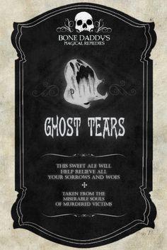 ghost tears label