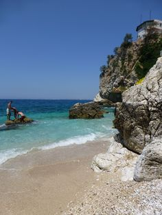 Secluded coves and clear blue waters in Vlore, Albania