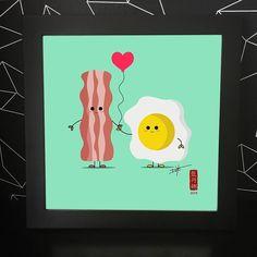 Day 1 of my We Belong Together Food Series in June. Bacon and Egg  I came up with this image while having breakfast in Vegas.  This inspired me to work on the food series. #30illustrationsin30days #foodart #food #illustration #vector #webelongtogether #cute #sf #sanfrancisco #bayarea #breakfast #foodillustration #digitalnomad #inspiration #artwork #digitalartwork #art #bacon #egg by donna.415