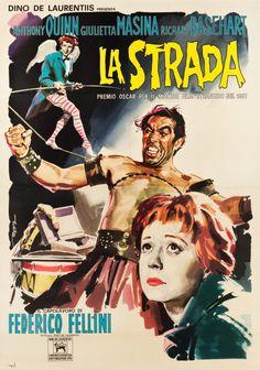 "Movie Posters:Drama, La Strada (De Laurentiis, R-Late 1950s). Italian 4 - Foglio (54"" X76"").. ... Image #1"