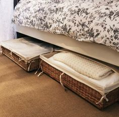 out with the linen closet, in with under bed storage! Comforter Storage, Ottoman Storage Bed, Linen Storage, Under Bed Storage, Bedroom Storage, Diy Storage Boxes, Storage Spaces, Underbed Storage Ideas, Rooms Ideas