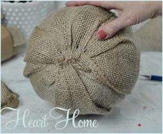 Burlap Pumpkin Craft - Sand and Sisal