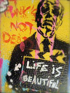 """Mr Brainwash, Expo """"Paint B.A.L."""", L'Adresse Musée de La Poste, Paris 15e, Septembre 2011   Mr Brainwash - more streetart? Check www.Streetart.nl"""