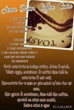 Scan bran slimming world coffee cake Slimming World Cake, Slimming World Desserts, Slimming World Recipes, Diabetic Cake Recipes, Diabetic Snacks, Scan Bran Recipes, Sliming World, Healthy Deserts, Slim Fast