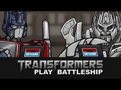 Transformers Play Battleship.  At least Optimus isn't a Bayformer.