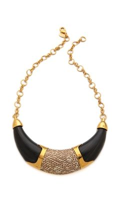 KARA by Kara Ross Resin Collar Necklace with Inlay