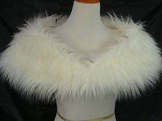 Faux Fur Shrug Ivory Mongolian Shag Faux Fur Shawl Fur by HotHats, $49.95